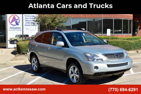 2008 Lexus RX 400h for sale at Atlanta Cars and Trucks in Kennesaw GA