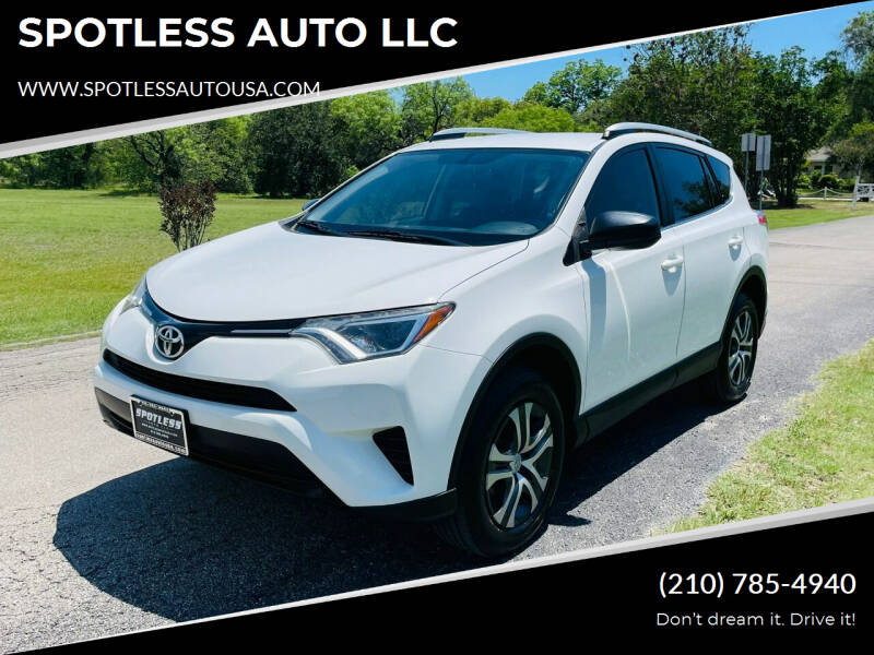 2016 Toyota RAV4 for sale at SPOTLESS AUTO LLC in San Antonio TX