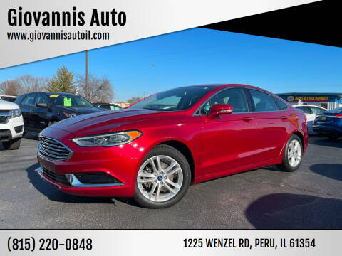 2018 Ford Fusion for sale at Giovannis Auto in Peru IL
