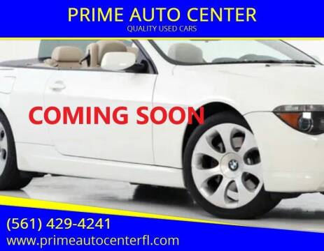 2006 BMW 6 Series for sale at PRIME AUTO CENTER in Palm Springs FL