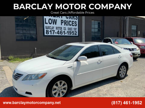 2007 Toyota Camry Hybrid for sale at BARCLAY MOTOR COMPANY in Arlington TX