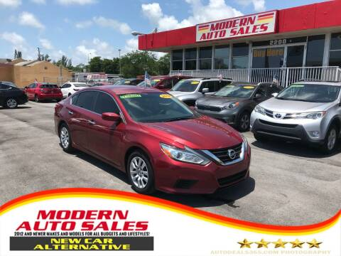 2016 Nissan Altima for sale at Modern Auto Sales in Hollywood FL
