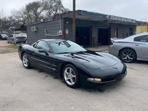 2004 Chevrolet Corvette for sale at Texas Luxury Auto in Houston TX