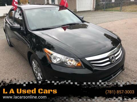 2012 Honda Accord for sale at L A Used Cars in Abington MA