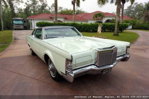 1969 Lincoln Mark III for sale at Autohaus of Naples Inc. in Naples FL