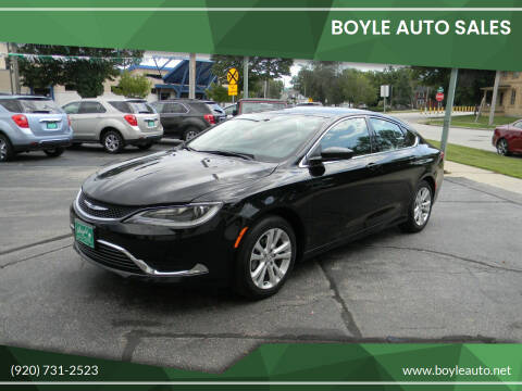 2015 Chrysler 200 for sale at Boyle Auto Sales in Appleton WI