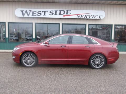 2013 Lincoln MKZ Hybrid for sale at West Side Service in Auburndale WI