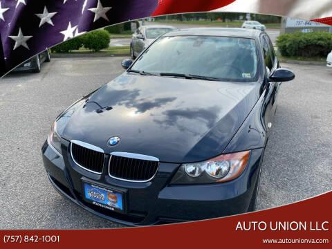 2007 BMW 3 Series for sale at Auto Union LLC in Virginia Beach VA