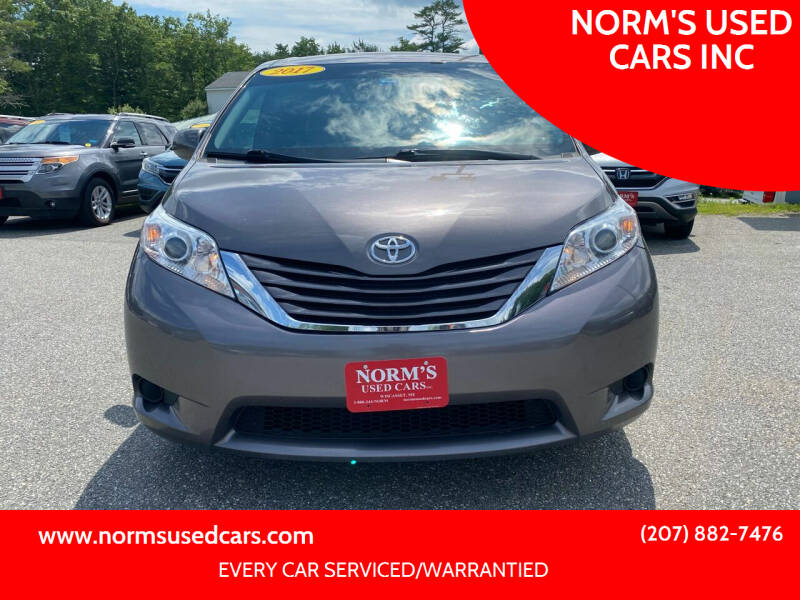 2017 Toyota Sienna for sale at NORM'S USED CARS INC in Wiscasset ME