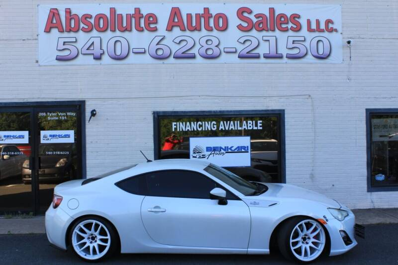2013 Scion FR-S for sale at Absolute Auto Sales in Fredericksburg VA