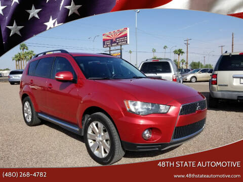 2012 Mitsubishi Outlander for sale at 48TH STATE AUTOMOTIVE in Mesa AZ