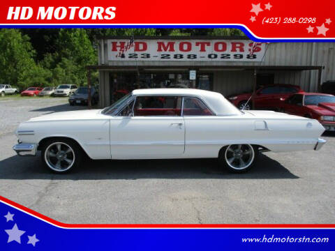 1963 Chevrolet Impala for sale at HD MOTORS in Kingsport TN