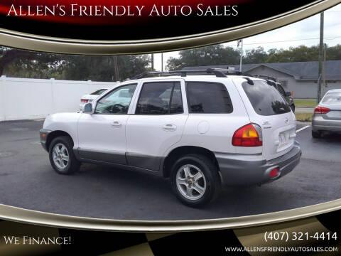 2004 Hyundai Santa Fe for sale at Allen's Friendly Auto Sales in Sanford FL