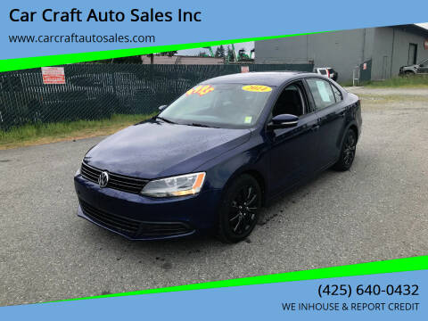 2014 Volkswagen Jetta for sale at Car Craft Auto Sales Inc in Lynnwood WA