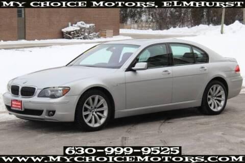 2007 BMW 7 Series for sale at My Choice Motors Elmhurst in Elmhurst IL