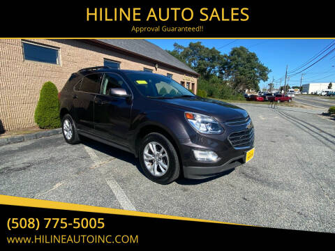 2016 Chevrolet Equinox for sale at HILINE AUTO SALES in Hyannis MA