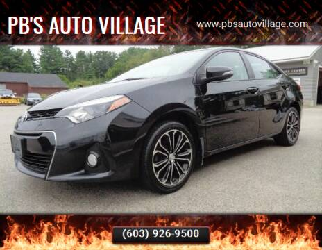 2016 Toyota Corolla for sale at PB'S Auto Village in Hampton Falls NH