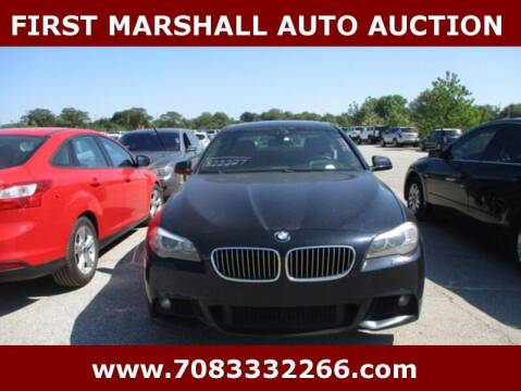 2013 BMW 5 Series for sale at First Marshall Auto Auction in Harvey IL