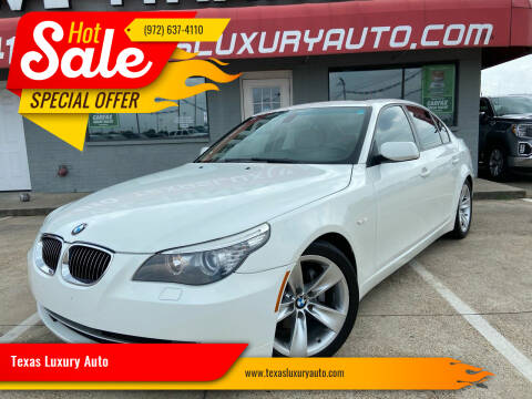 2009 BMW 5 Series for sale at Texas Luxury Auto in Cedar Hill TX