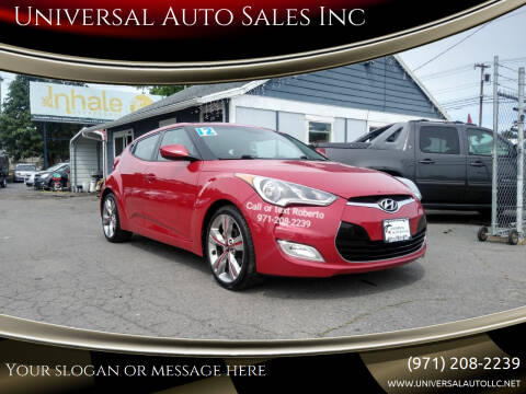 2012 Hyundai Veloster for sale at Universal Auto Sales Inc in Salem OR
