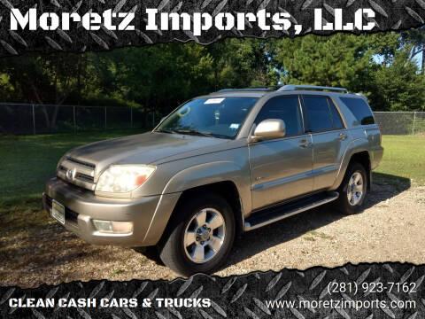 2004 Toyota 4Runner for sale at Moretz Imports, LLC in Spring TX