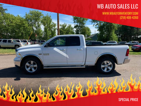 2013 RAM Ram Pickup 1500 for sale at WB Auto Sales LLC in Barnum MN