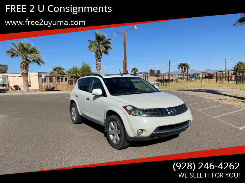 2006 Nissan Murano for sale at FREE 2 U Consignments in Yuma AZ
