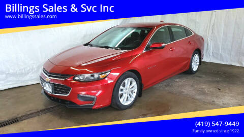 2016 Chevrolet Malibu for sale at Billings Sales & Svc Inc in Clyde OH