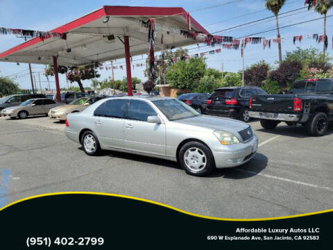 2002 Lexus LS 430 for sale at Affordable Luxury Autos LLC in San Jacinto CA