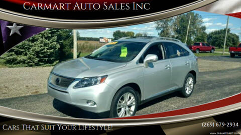2010 Lexus RX 450h for sale at Carmart Auto Sales Inc in Schoolcraft MI