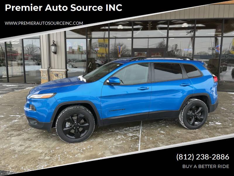 2018 Jeep Cherokee for sale at Premier Auto Source INC in Terre Haute IN