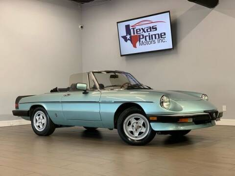 1984 Alfa Romeo Spider for sale at Texas Prime Motors in Houston TX