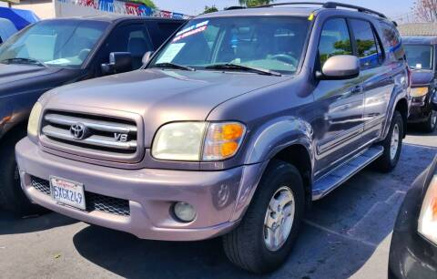 2002 Toyota Sequoia for sale at Apollo Auto El Monte in El Monte CA
