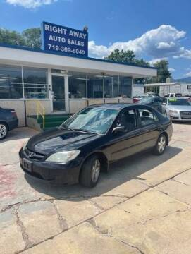 2005 Honda Civic for sale at Right Away Auto Sales in Colorado Springs CO