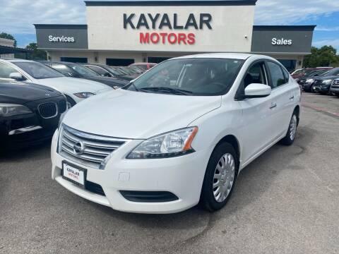 2013 Nissan Sentra for sale at KAYALAR MOTORS in Houston TX