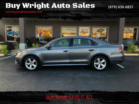 2014 Volkswagen Passat for sale at Buy Wright Auto Sales in Rogers AR