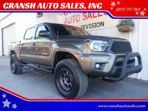 2012 Toyota Tacoma for sale at CRANSH AUTO SALES, INC in Arlington TX