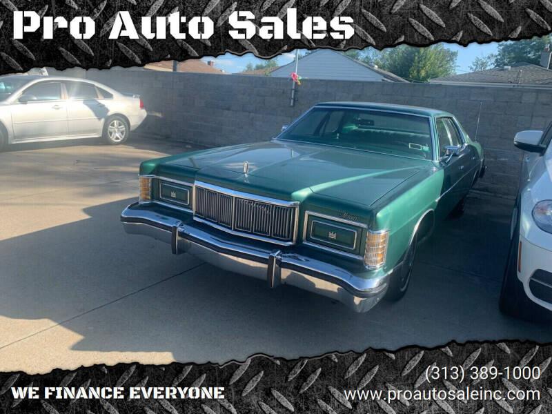 1978 Mercury Marquis for sale at Pro Auto Sales in Lincoln Park MI
