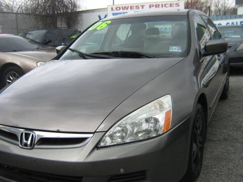 2006 Honda Accord for sale at JERRY'S AUTO SALES in Staten Island NY