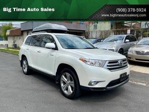 2012 Toyota Highlander for sale at Big Time Auto Sales in Vauxhall NJ
