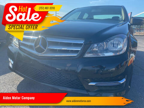 2013 Mercedes-Benz C-Class for sale at Aiden Motor Company in Portsmouth VA