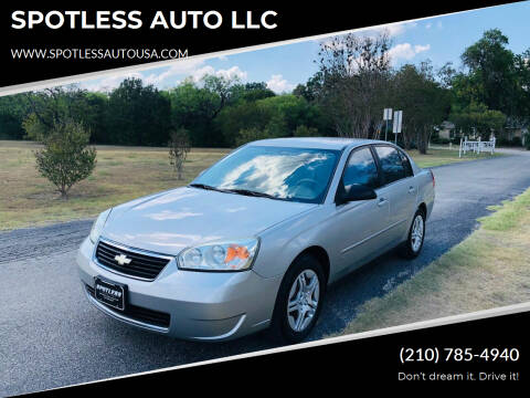 2008 Chevrolet Malibu Classic for sale at SPOTLESS AUTO LLC in San Antonio TX