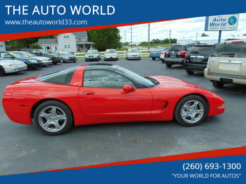 1999 Chevrolet Corvette for sale at THE AUTO WORLD in Churubusco IN