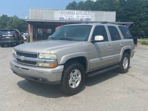 2004 Chevrolet Tahoe for sale at Greenbrier Auto Sales in Greenbrier AR