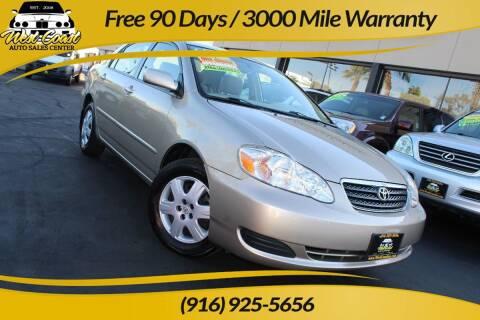 2005 Toyota Corolla for sale at West Coast Auto Sales Center in Sacramento CA