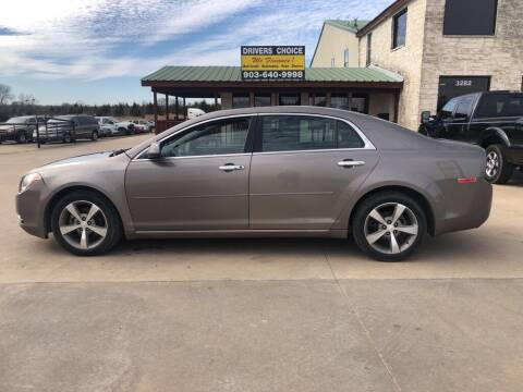 2012 Chevrolet Malibu for sale at Driver's Choice in Sherman TX