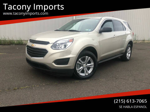 2016 Chevrolet Equinox for sale at Tacony Imports in Philadelphia PA