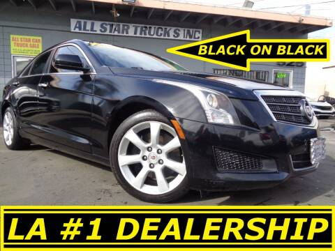2013 Cadillac ATS for sale at ALL STAR TRUCKS INC in Los Angeles CA