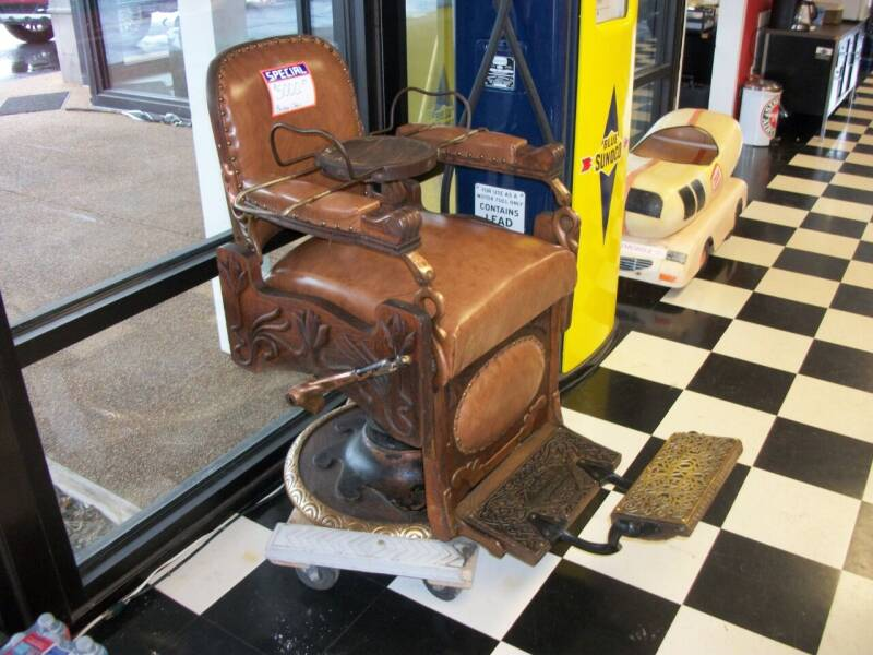 1900's Wooden Barber  Chair for sale at Classics Truck and Equipment Sales in Cadiz KY