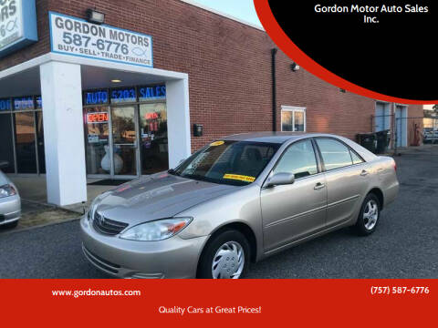 2004 Toyota Camry for sale at Gordon Motor Auto Sales Inc. in Norfolk VA